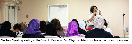 Stephen Sheehi speaking at Islamic Center of San Diego