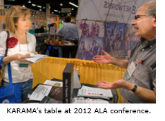 Karama's table at ALA